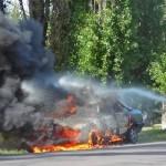 машина сгорела в боброве