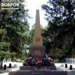 братская могила в Боброве