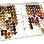 образцы красок для волос