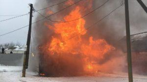 пожар на сельхозпредприятии в Боброве
