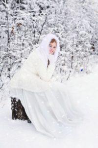 свадьба зимой красота