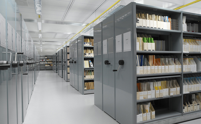 металлические архивные стеллажи