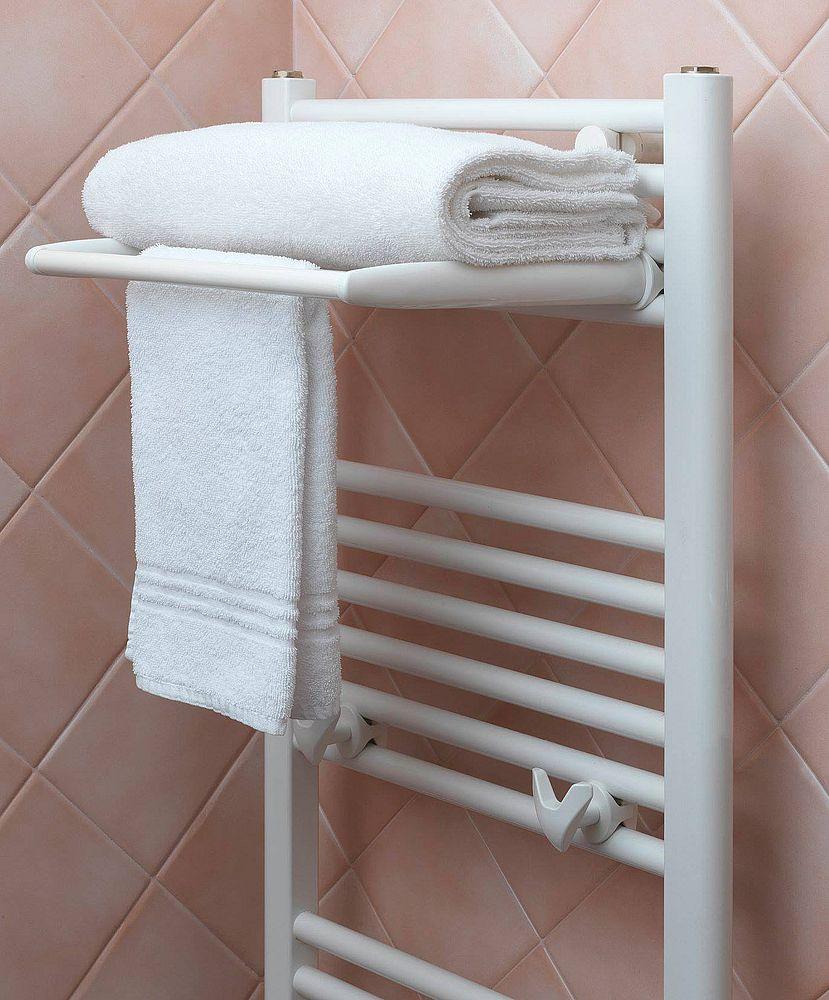 электрический полотенцесушитель с полкой