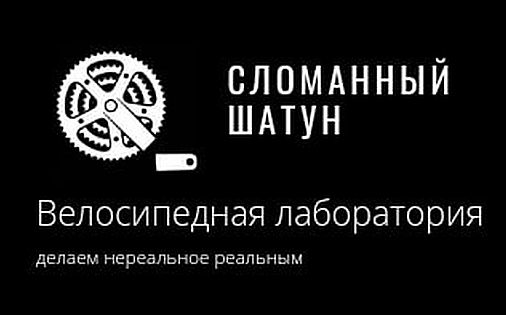 логотип веломастерской сломанный шатун