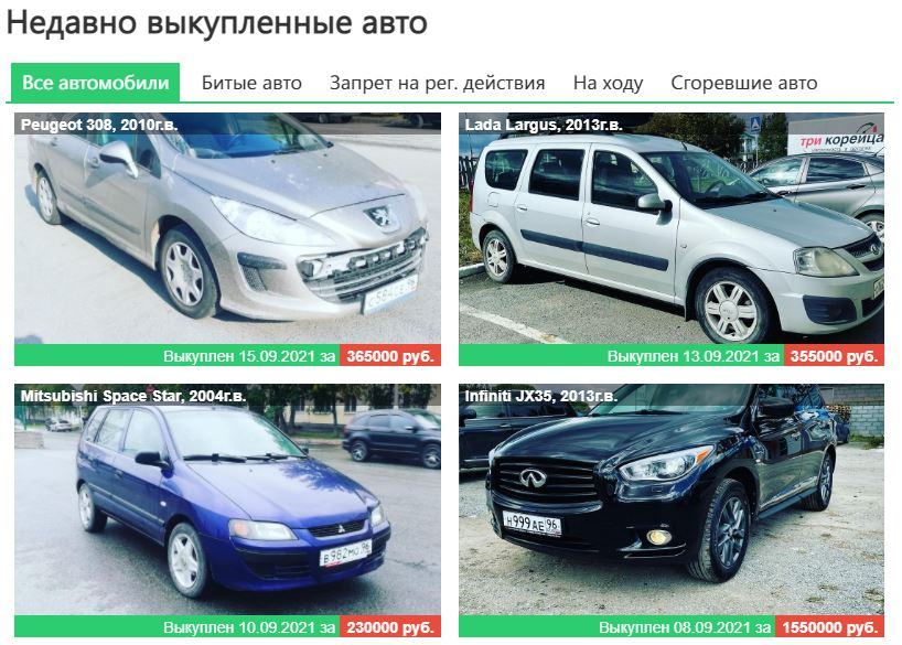 выкупленные автомобили гедеон авто